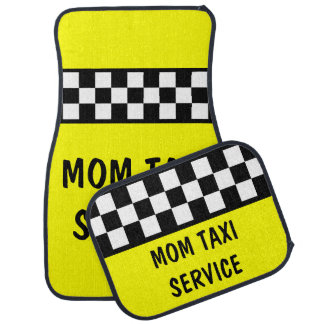 Funny Mom Taxi Service Car Mats Set Car Mat