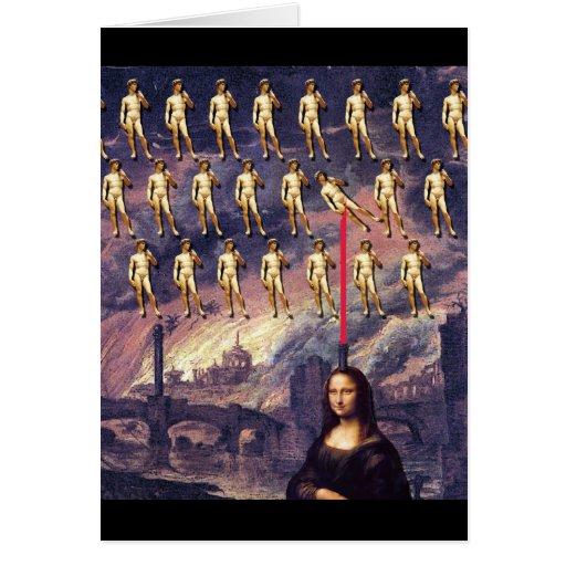 Funny Mona Lisa & David Cards