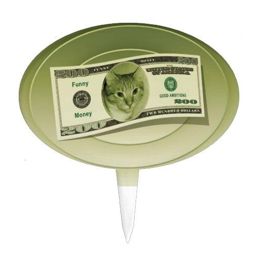 Funny Money Cake Topper