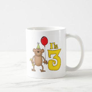 Funny Monkey 3rd Birthday Basic White Mug