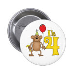 Funny Monkey 4th Birthday Pins