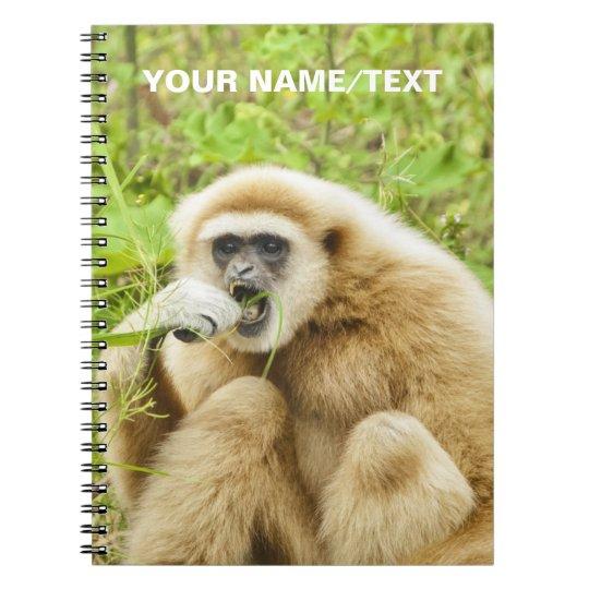 Funny Monkey Animal Personalised Name Notebooks