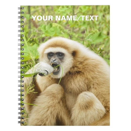 Funny Monkey Animal Personalised Name Spiral Notebooks