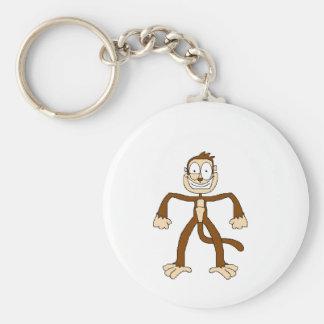 Funny Monkey Basic Round Button Key Ring