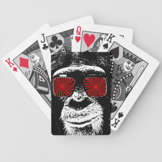 Funny monkey bicycle playing cards