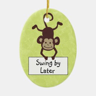 Funny Monkey Door Hanger Christmas Ornament