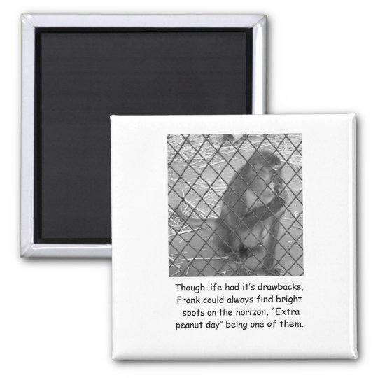 Funny Monkey Encouragement Magnet