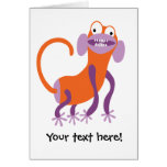 Funny Monkey Greeting Card