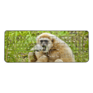 Funny Monkey in the Green Grass Wireless Keyboard