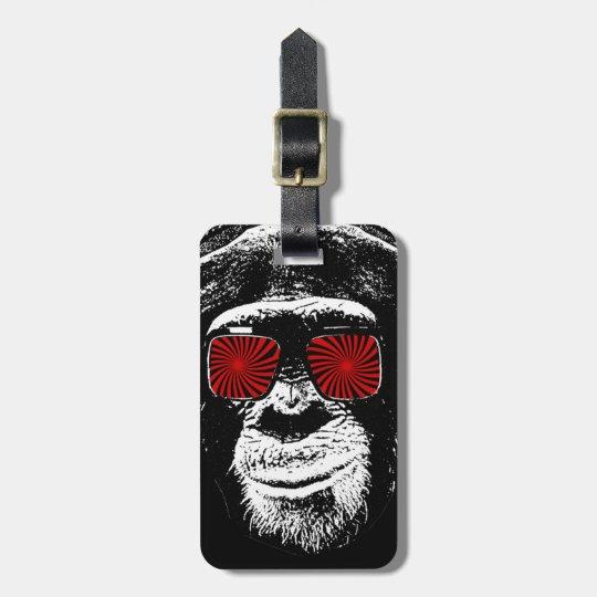 Funny monkey luggage tag