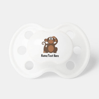 Funny Monkey Name  Customize Baby Pacifiers