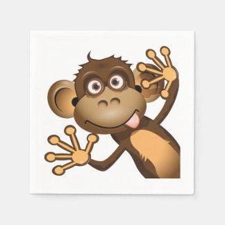 Funny Monkey Paper Napkins