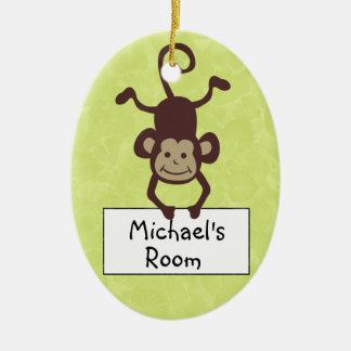 Funny Monkey Personalized Door Hanger Christmas Ornament