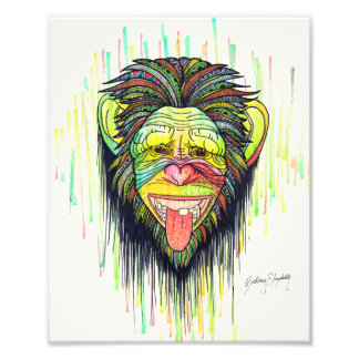 Funny Monkey Photo Print