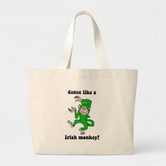 Funny monkey St Patrick's Day Tote Bag