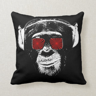Funny monkey throw pillow