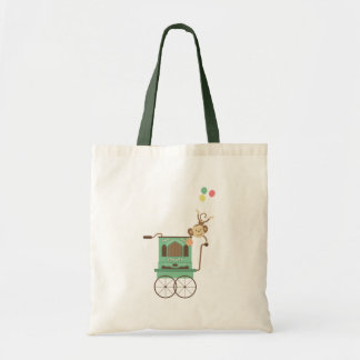 Funny Monkey With Balloons Budget Tote Bag