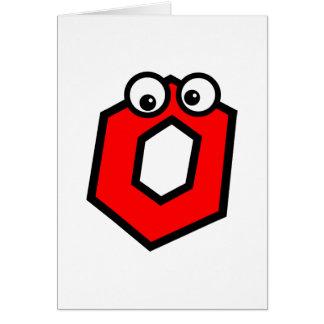 Funny Monogram Letter O Card