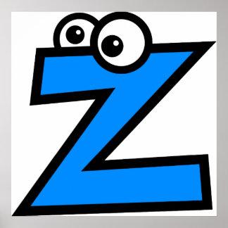 Funny Monogram Letter Z Poster