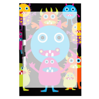 Funny Monster Bash Cute Creatures Party Dry-Erase Boards