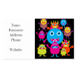 Funny Monster Bash Cute Creatures Party Pack Of Standard Business Cards