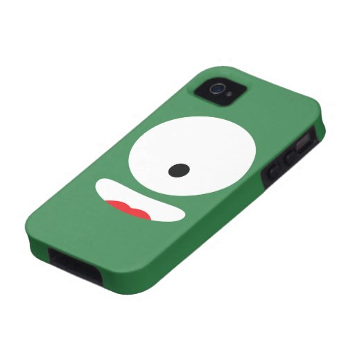 Funny Monster Face Vibe iPhone 4 Cases