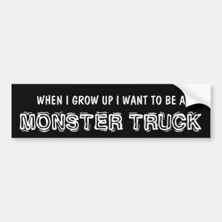 Funny Monster Truck for Lifted 4x4 Bumper Sticker