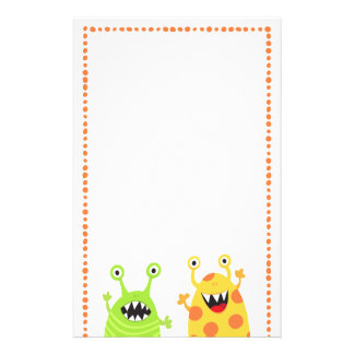 Funny monsters fun cartoon stationery for kids