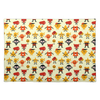 Funny monsters pattern placemats