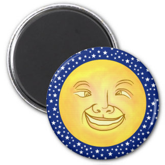 Funny Moon Man Outer Space Vintage 6 Cm Round Magnet