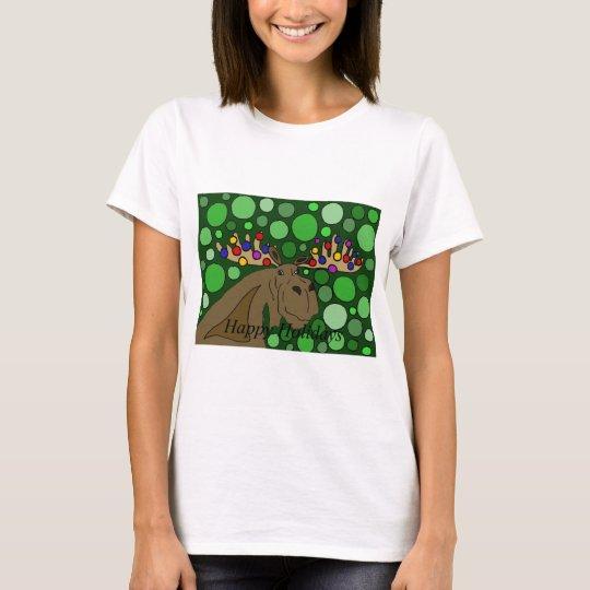 Funny Moose and Christmas Lights Abstract Art T-Shirt