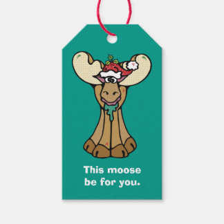 Funny Moose Be for You Christmas Gift Tags