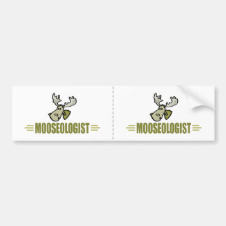 Funny Moose Bumper Sticker