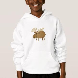 Funny Moose / Reindeer on White