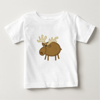 Funny Moose / Reindeer on White Baby T-Shirt