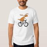 Funny Moose Riding Bicycle original art T Shirts