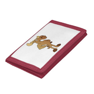 Funny moose trifold wallets