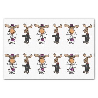 Funny Moose Wedding Tissue Paper