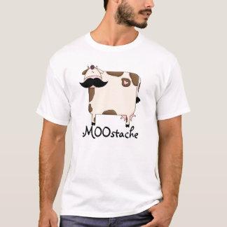 funny MOOstache mustache cow T-Shirt
