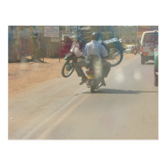 "Funny moped ""boda boda"" picture postcard"