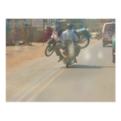 """Funny moped """"boda boda"""" picture post cards"""