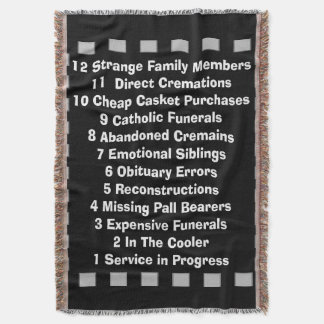 Funny Mortician Funeral Director Woven Blanket Throw Blanket