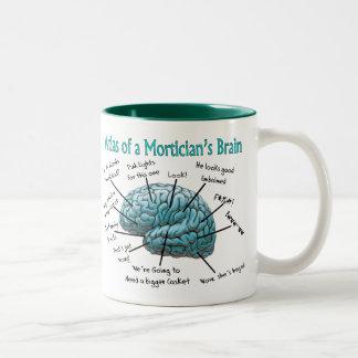Funny Mortician Gifts Two-Tone Mug