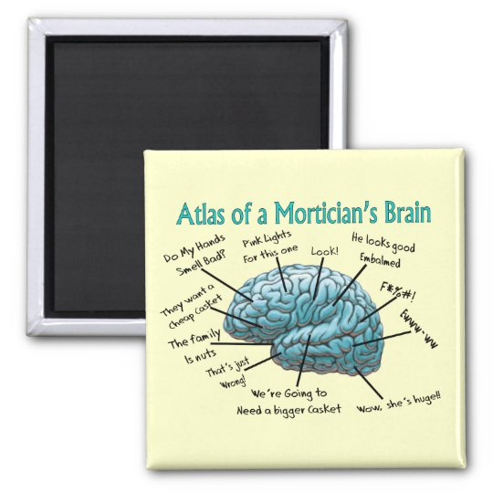 Funny Mortician Gifts Square Magnet