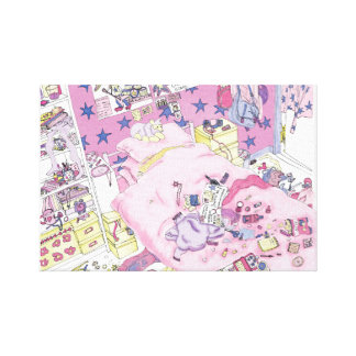 Funny Mother's day messy bedroom art canvas Stretched Canvas Prints
