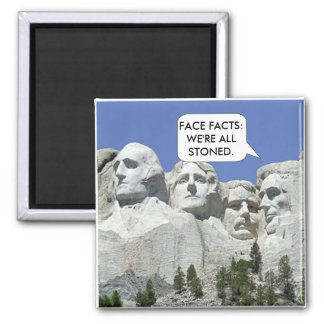 Funny Mount Rushmore Square Magnet