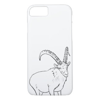 Funny Mountain Goat Drawing Animal Art Design iPhone 8/7 Case