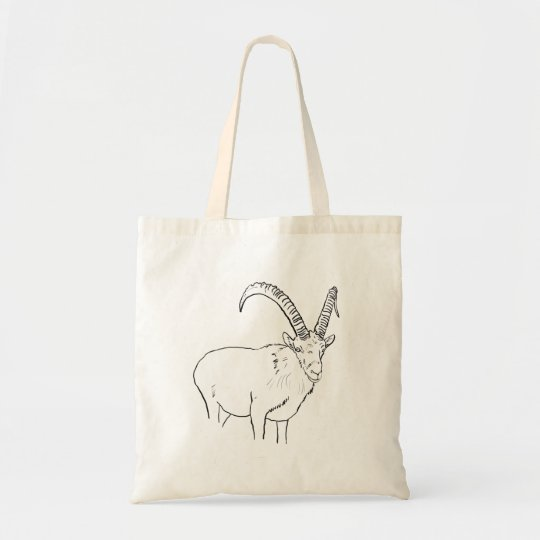 Funny Mountain Goat Line Drawing Animal Art Design