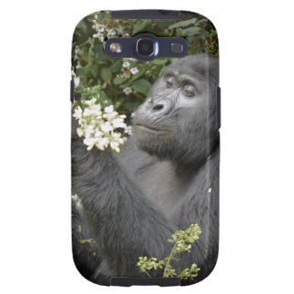 funny mountain gorilla eating flowers samsung galaxy SIII covers