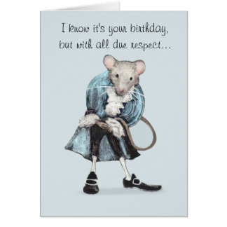 Funny Mouse Birthday Card